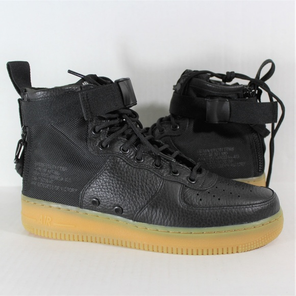 reputable site 371f8 1b5a1 Nike SF Air Force 1 Mid Black / Gum AF1 R884 NWT